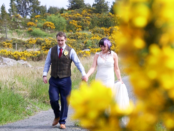 Sinead & Mark who were married in Cashelard with reception in the Jolly Farmers Bar and Restaurant in Clyhore, Co Donegal near Belleek, Co Fermanagh