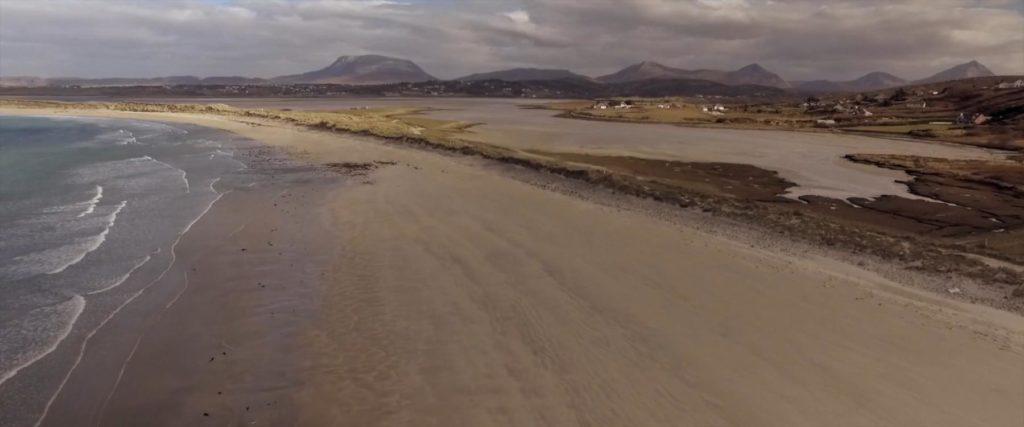 gortahork beach aerial drone