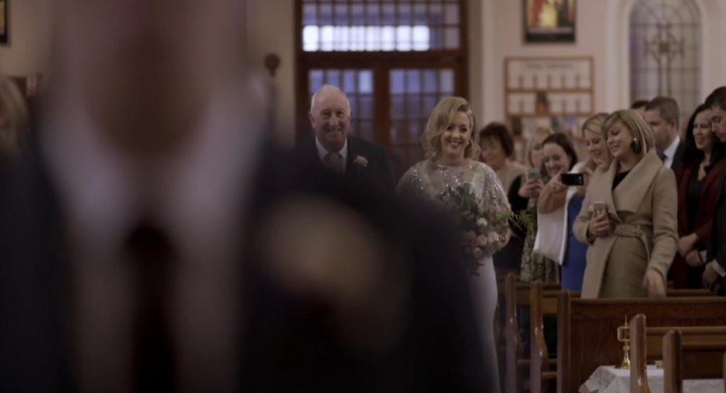 aisle gortahork bride father groom wedding