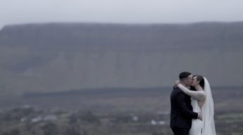 kiss mountain ben bulben grange sligo bride and groom