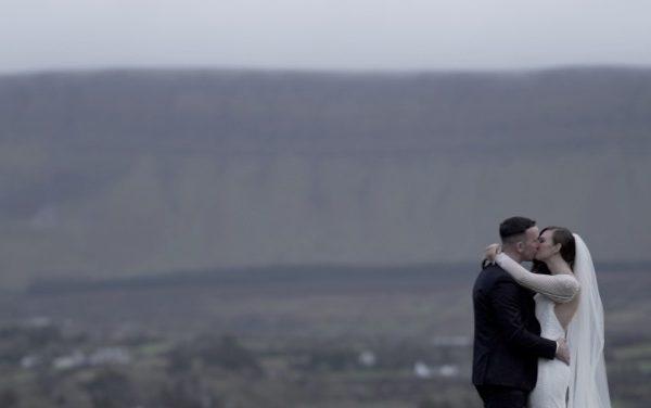 kiss mountain ben bulben grange sligo bride and groom