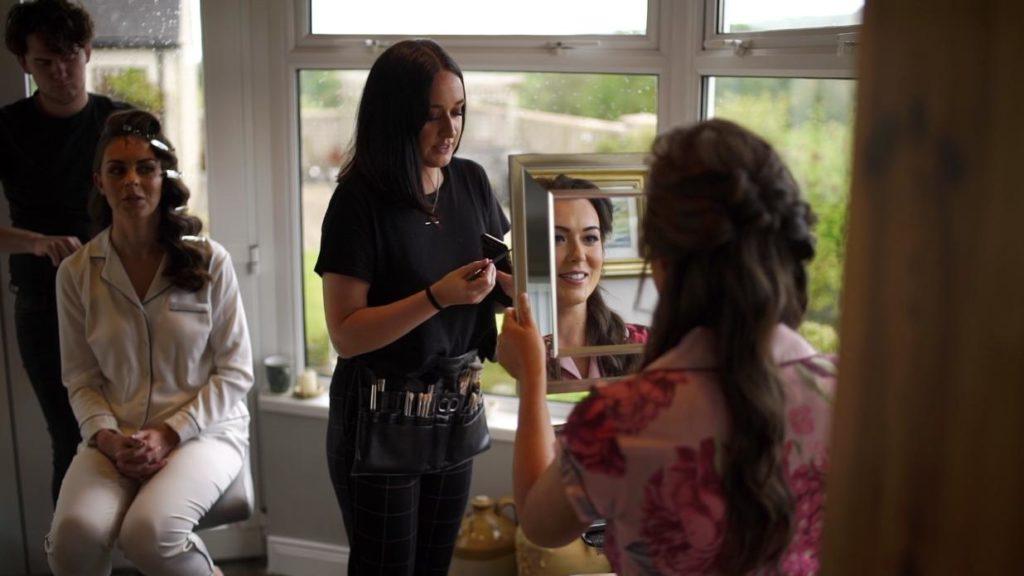 Bridal prep hair and makeup bridesmaid morning