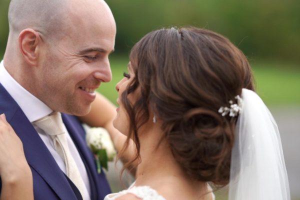 bride and groom kiss kilronan castle roscommon