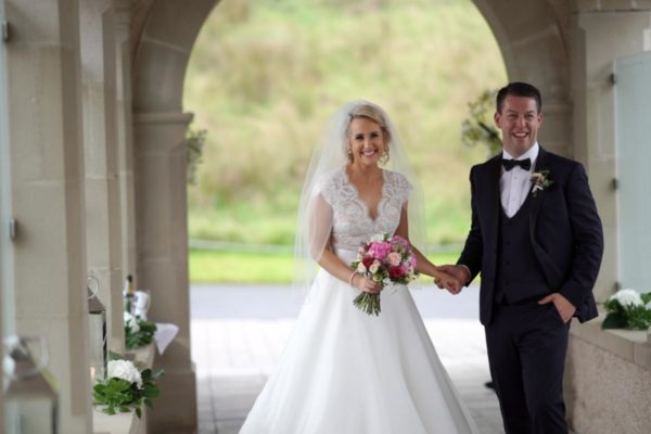 arriving at lough erne resort in fermanagh as married couple