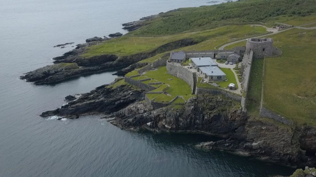 Napoleonic Fort in North Donegal on the sea cliffs at Lough Swilly near Rathmullan