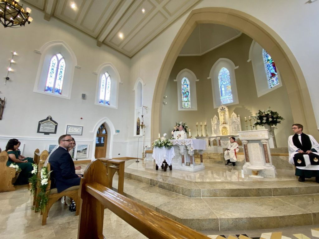 killybegs church visitation altar fr colm wedding mass ceremony