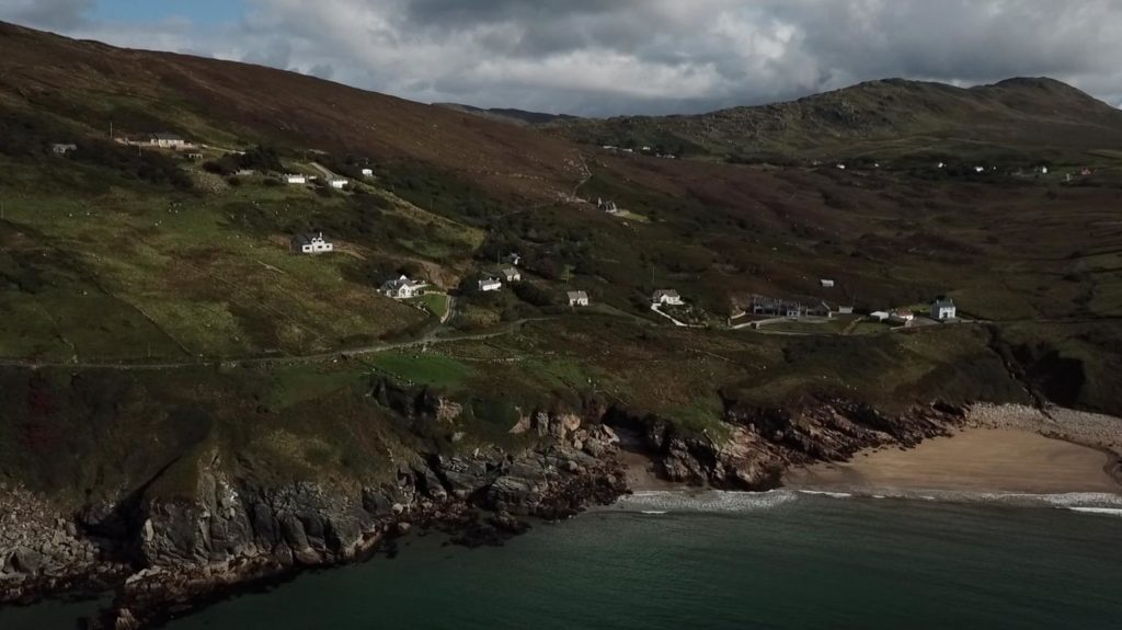 wild atlantic way wedding video still beach ocean cliffs sliabh liag donegal