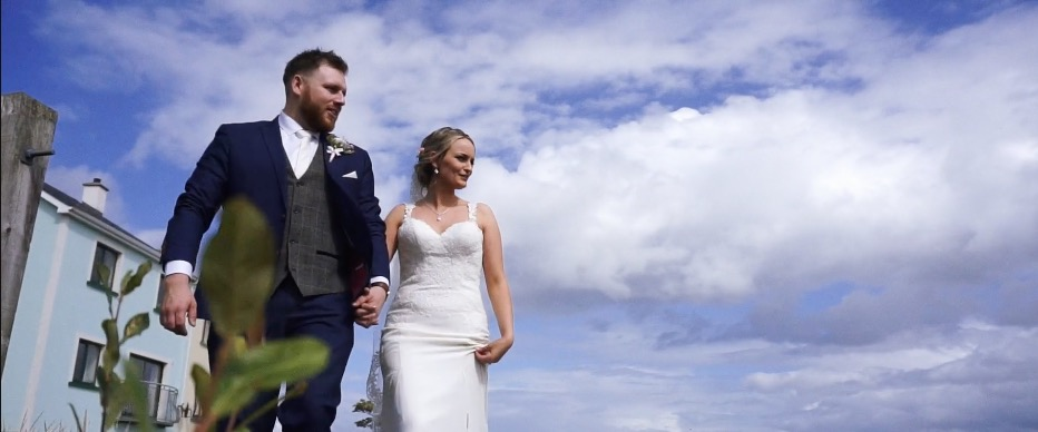bride groom walk