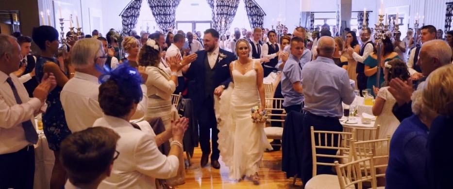 mill park hotel wedding bride and groom entrance