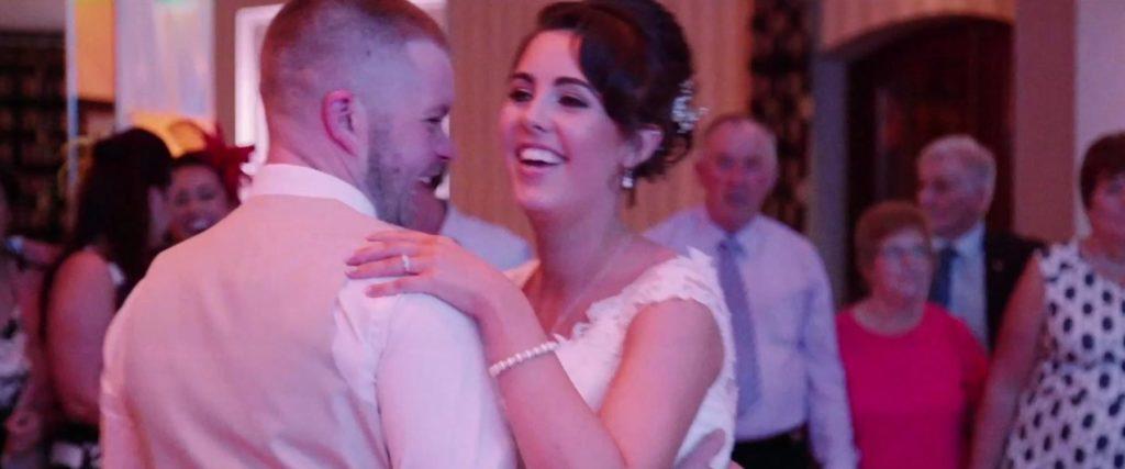 bride groom dance at wedding reception