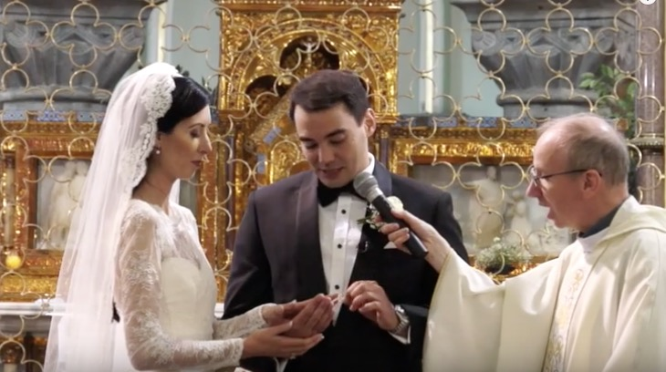ring exchange sligo cathedral bride groom priest