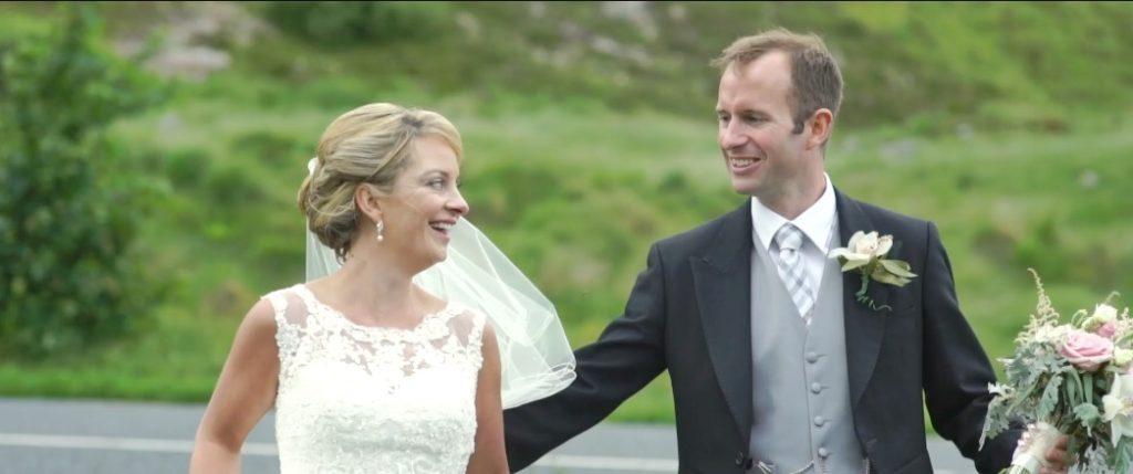 bride and groom barnes gap flowers letterkenny