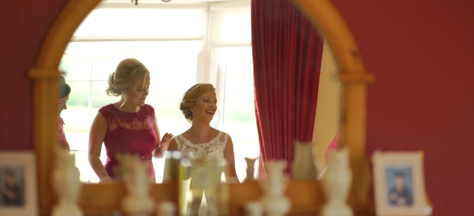 bride mirror reflection wedding letterkenny