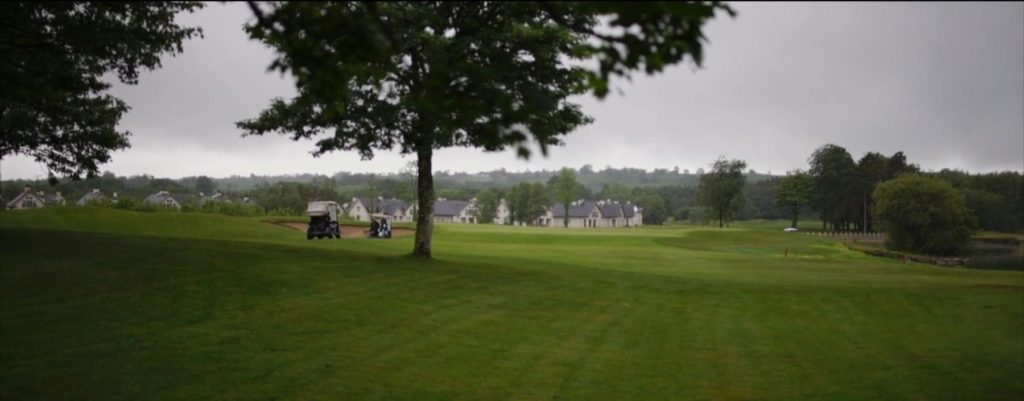 golf course hole buggy golfers lough erne fairway