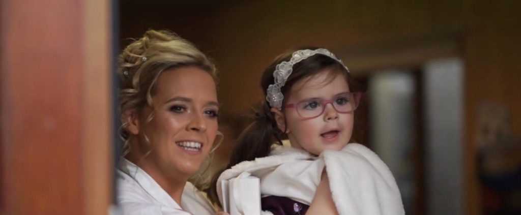 bride and flowergirl co offaly