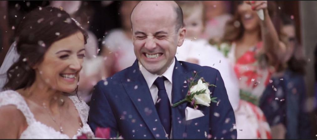 Confetti church wedding