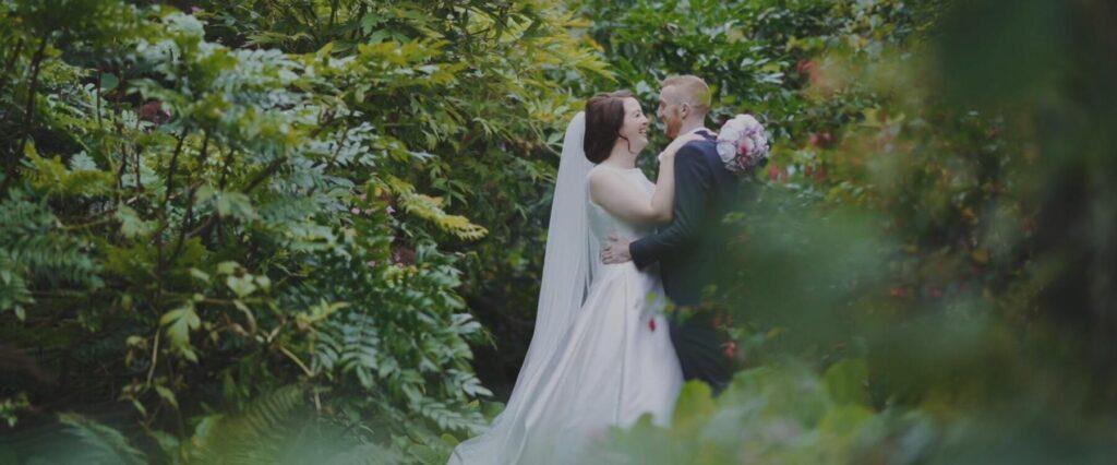 bride groom salthill gardens wedding videographer