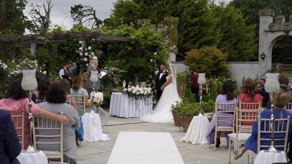 Enda Harte celebrant at this Bellingham Castle Wedding