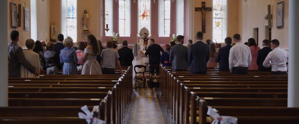 Fr Heerey at the wedding of C&R